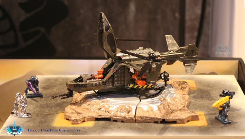 how to make a halo mega bloks diorama