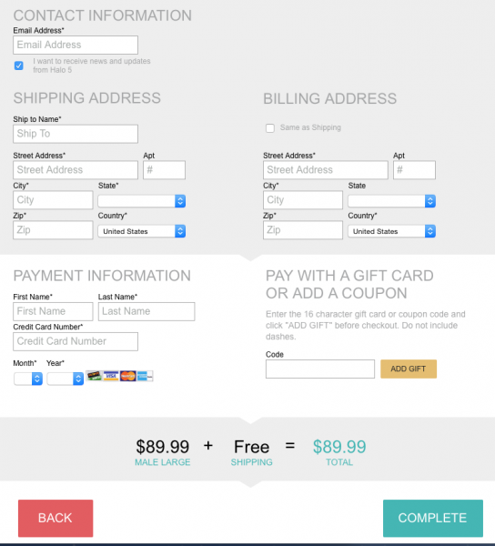 3D payment page