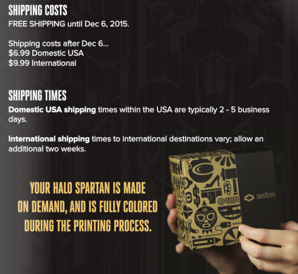 3D spartan Shipping-paint-packing info