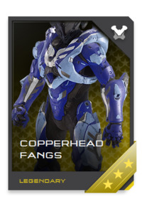 "A multipurpose armor system built from the ground-up for covert ""special activities,"" COPPERHEAD armor is rarely seen since it's jealously guarded by ONI's direct action teams."