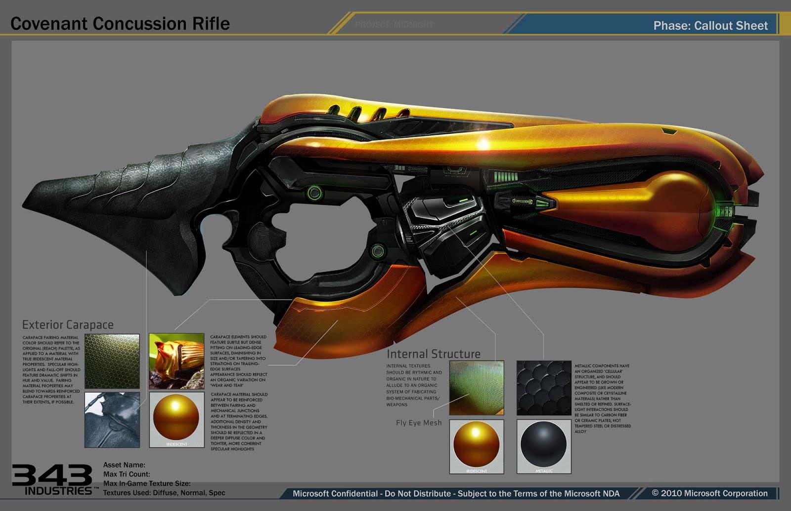 Halo 4 Weapons and Vehicles Designs.   HaloFanForLife