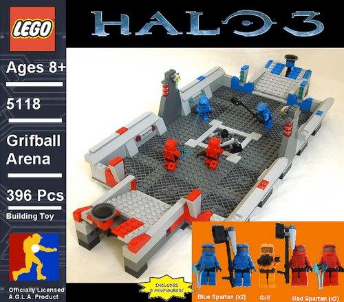 custom halo grifball set lego halofanforlife
