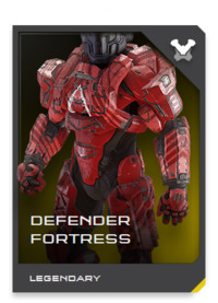 The placid DEFENDER faceplate is a symbol of both UNSC oppression and protection, due to use by Spartan anti-Insurrection units.