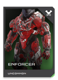 ENFORCER-class armor includes hardware-accelerated VISR enhancements for infiltrating and co-opting local battlenets to aid in target-location, target-tracking, and counter-surveillance.