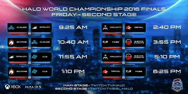Firday Stage 2 matchups