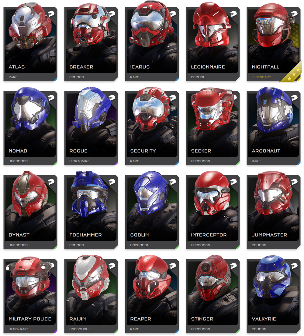 Helmets Of Halo 5 Guardians Which Should Return In Halo Infinite