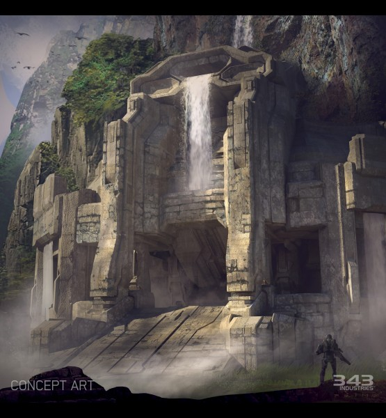 Gamescom-2014-Halo-2-Anniversary-Multiplayer-Sanctuary-Concept-Waterfall-jpg