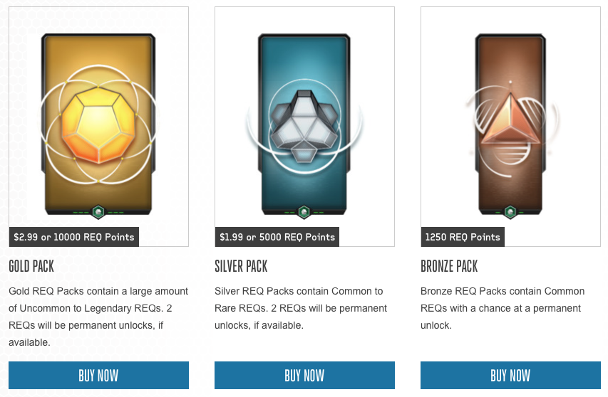 H5G original REQ Packs