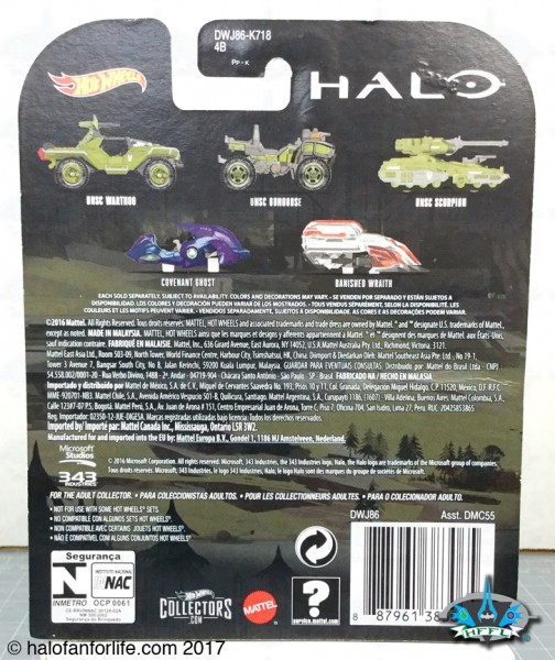 HW Halo Carded BACK