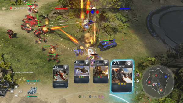 HW2 screen of battle