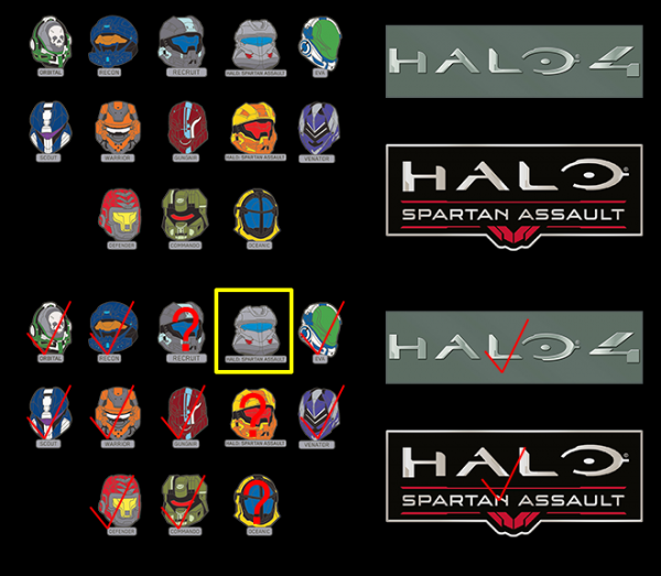 Halo 2013 SDCC pins