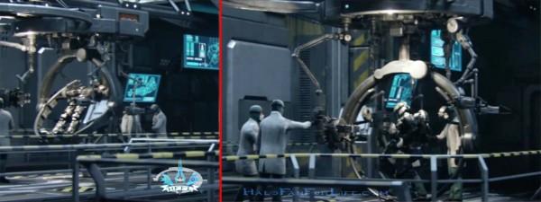 Halo 4 ending Armor Gantry