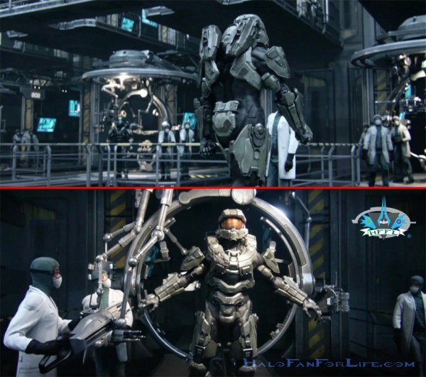 Halo 4 ending MC Armor Gantry