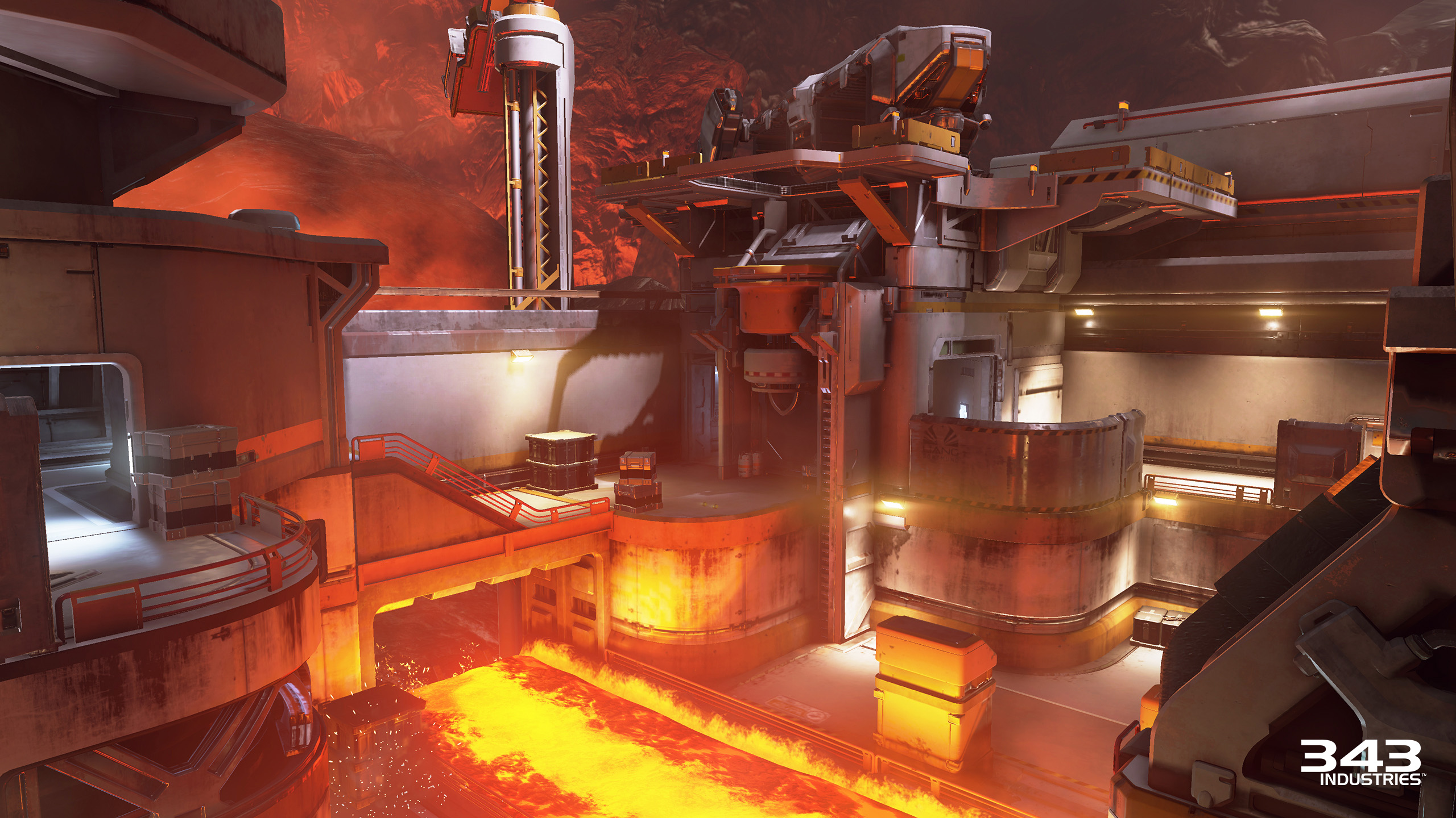 Halo 5 Guardians Arena Molten Lava