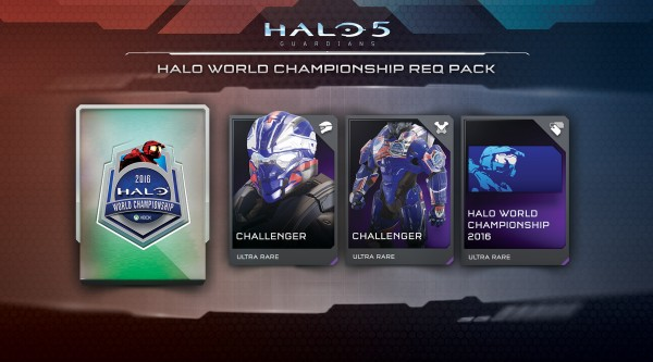Halo 5 Guardians Halo World Championship REQ Pack