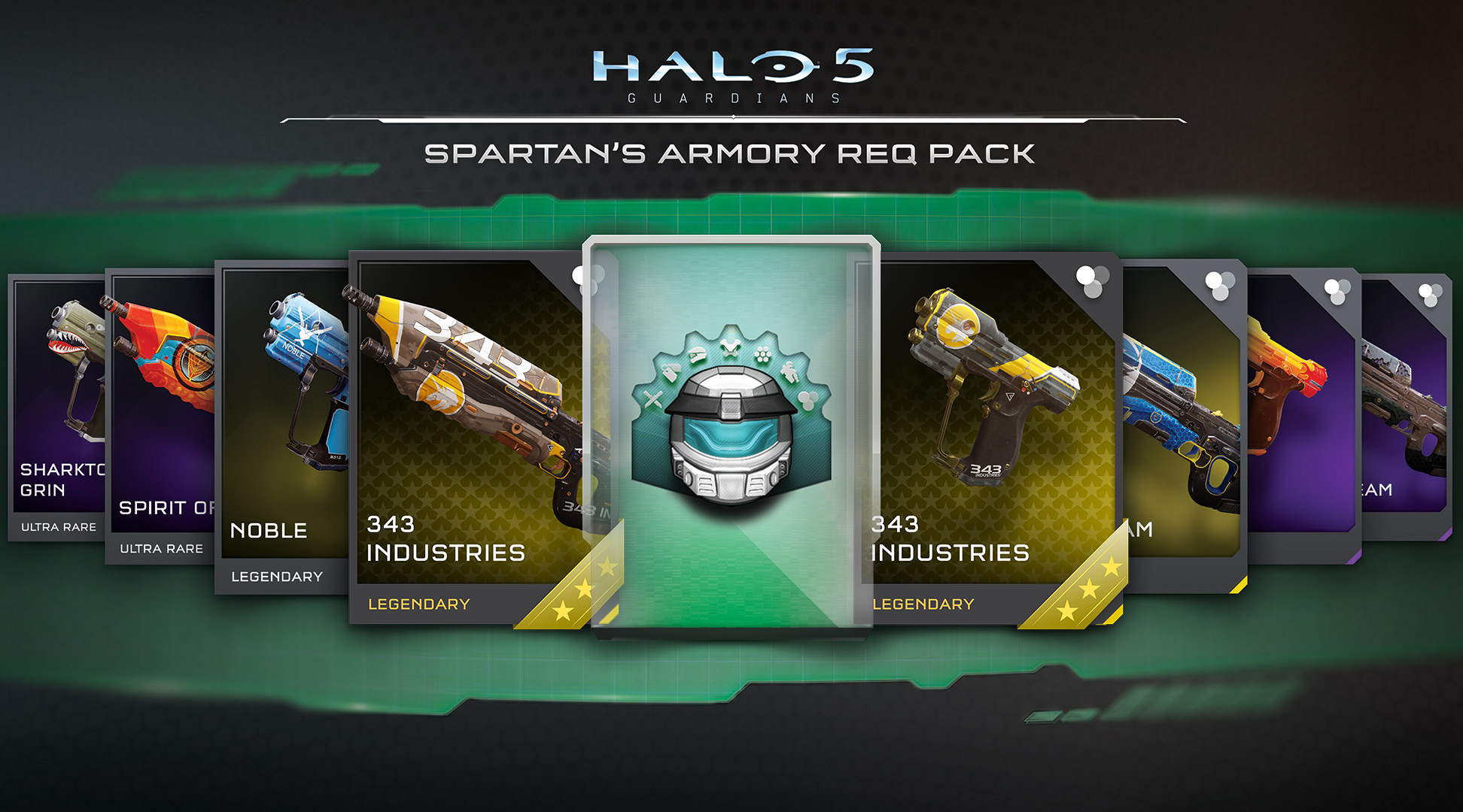 Halo 5 Guardians Spartan's Armory REQ Pack