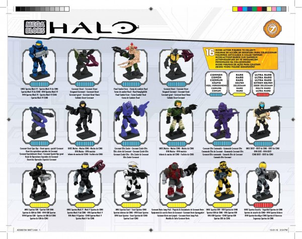 Halo Series 7 Commonality sheet