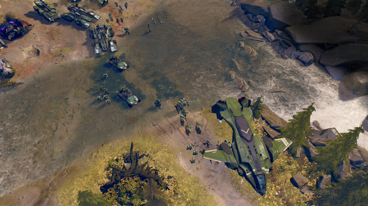Halo Wars 2 Green Pelican and troops RS
