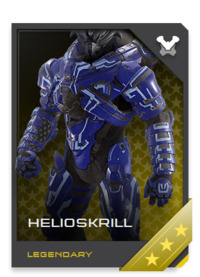 The HELIOSKRILL is a work of art crafted by a Sangheili prodigy inspired to test her skill against the best that humanity could muster.