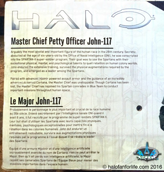 Jakks 31in Master Chief CU package detail