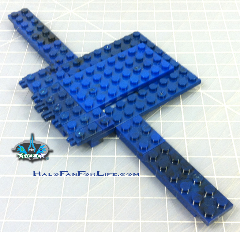 MB Blue Series Falcon 5th step wing assembly start