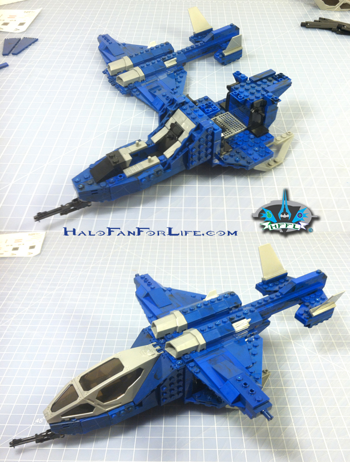 MB Blue Series Falcon 8th steps body-wing-tail