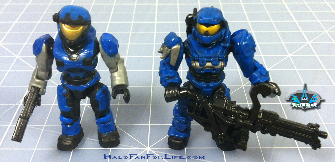 MB Blue Series Falcon Minifigs w-weapons