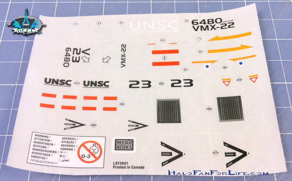 MB Blue Series Falcon sticker sheet
