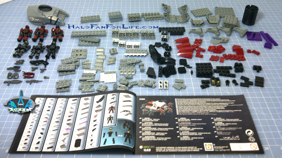 Halo mega bloks covenant brute chopper set 14 (96845) open box w.