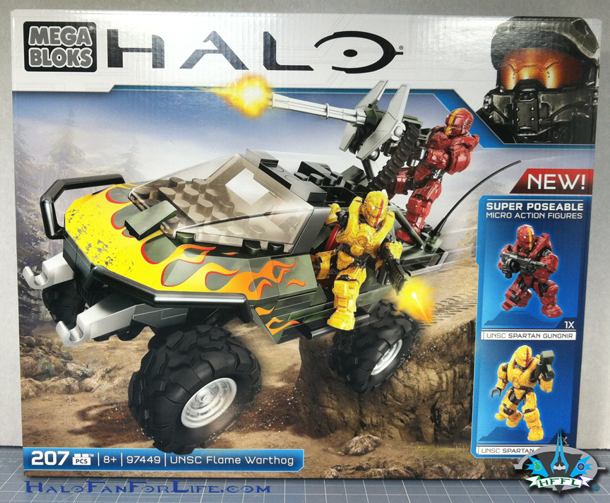 Halo Toy Review: Mega Bloks Flame Warthog | HaloFanForLife