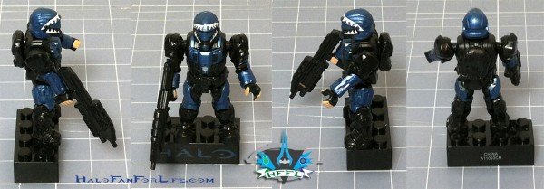 MB Metallic ODST Pod BLUE Minifig