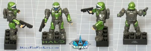 MB Metallic ODST Pod GREEN Minifig
