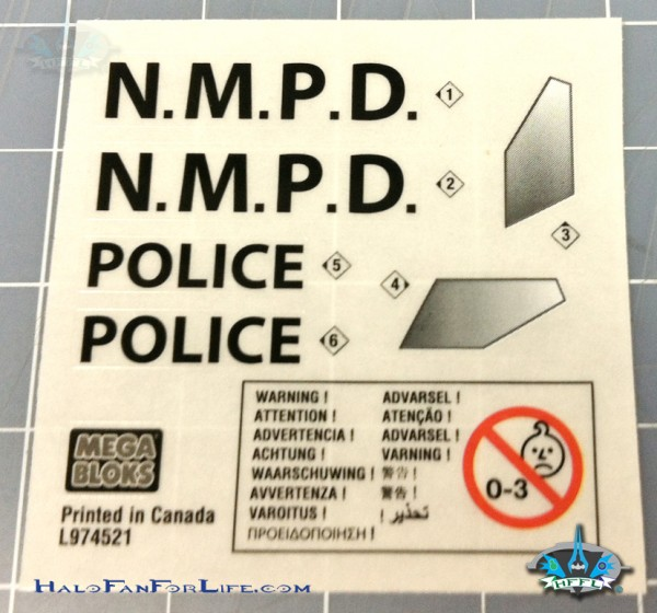 MB Police Cruiser sticker sheet