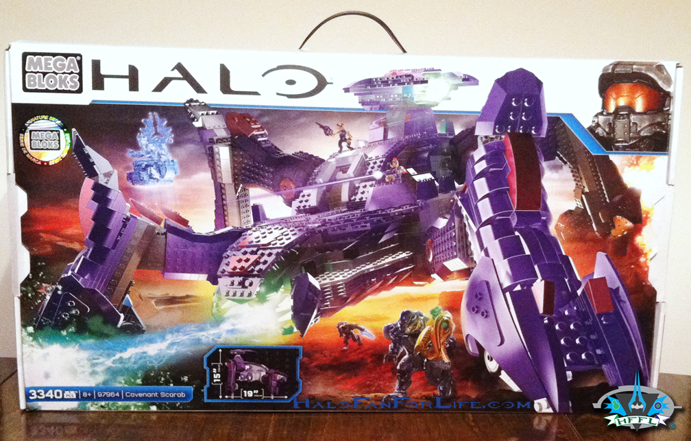Halo Mega Bloks Toy Review, Covenant Scarab: Part 1 (of 6