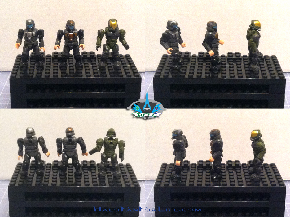 MB Ultimate Combat Pack minifigs ODSTs Marine