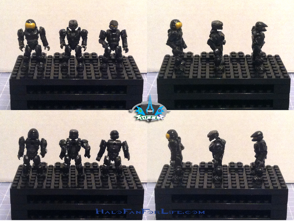 MB Ultimate Combat Pack minifigs Spartans Black