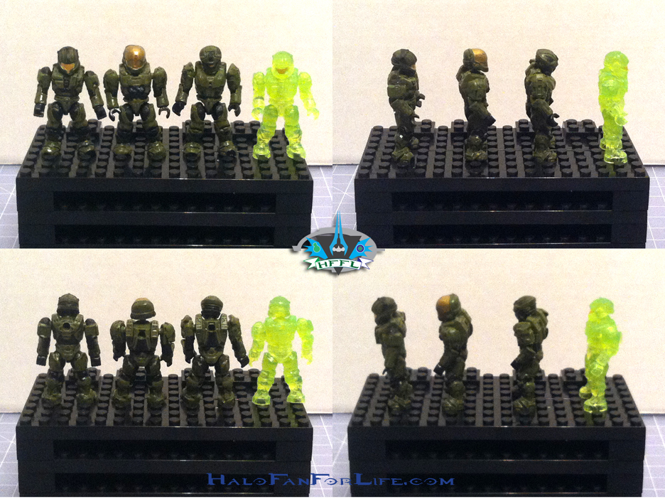 MB Ultimate Combat Pack minifigs Spartans Green
