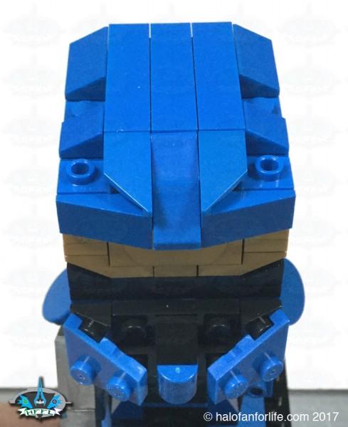 MEGA Kubros Blue Scout helmet angle
