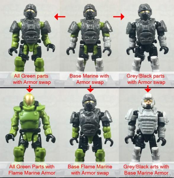 MEGA Marine Customizer Armor Swaps