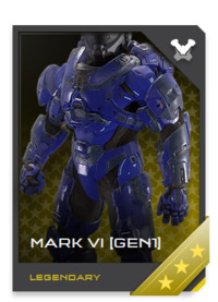 Technically obsolete, the Mark VI [GEN1] Mjolnir armor maintains a legendary luster among Spartans and the general public.