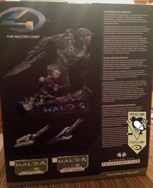 McF Halo 4 Master Chief Statue BACK-