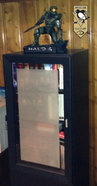 McF Halo 4 Master Chief Statue Displayed-