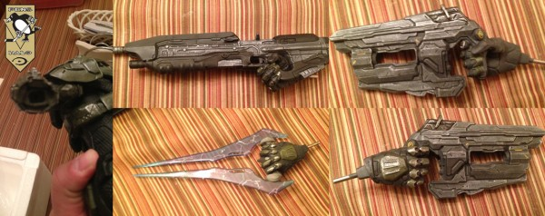 McF Halo 4 Master Chief Statue hand hole and weapons