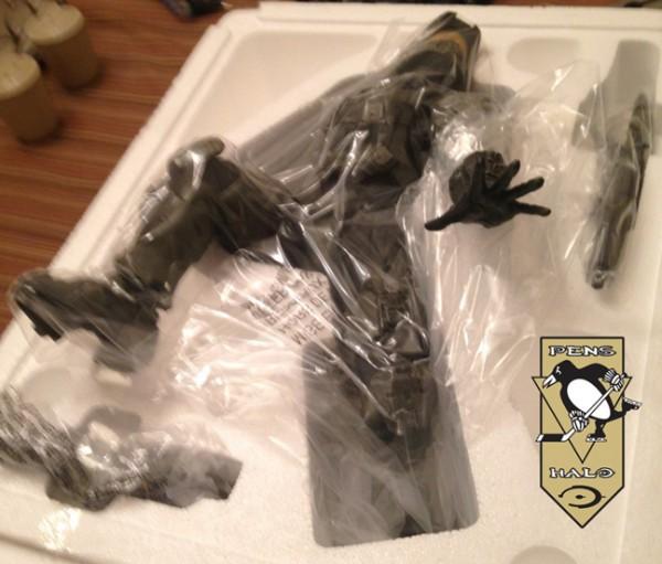 McF Halo 4 Master Chief Statue in foam-