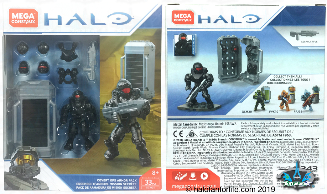 Mega Construx HALO Covert Ops Armor Pack .