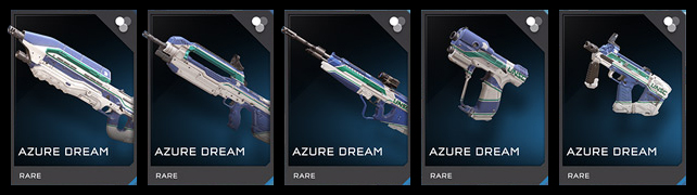 MoR Azure Dream weapon skin set