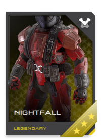 Spartans with Marine experience prefer NIGHTFALL armor when stationed on inhospitable worlds, due to its best-of-class life support.