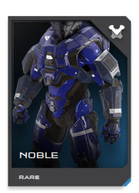 Reborn from the ashes of the Covenant War, NOBLE-class armor integrates the best battle network management hardware with the latest GEN2 techsuit features and dissipative shields.
