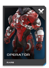 OPERATOR armor has proven itself an adaptable combat ensemble in Spartan service, utilized by both pilots and force reconnaissance operatives.