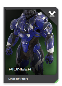 The PIONEER is a reconnaissance and combat expedition Mjolnir variant, pairing advanced environmental sensors with Acheron's latest threat detection systems.